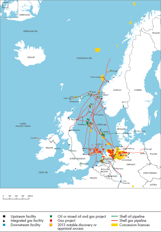 Map Of North West Spain.Royal Dutch Shell Plc Investors Handbook 2009 2013 North West Europe