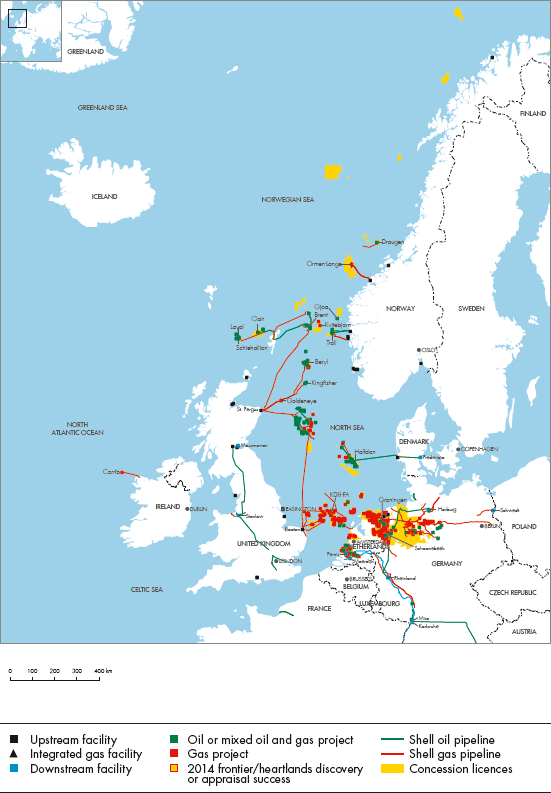 Map Of North West Germany.Royal Dutch Shell Plc Investors Handbook 2010 2014 North West Europe
