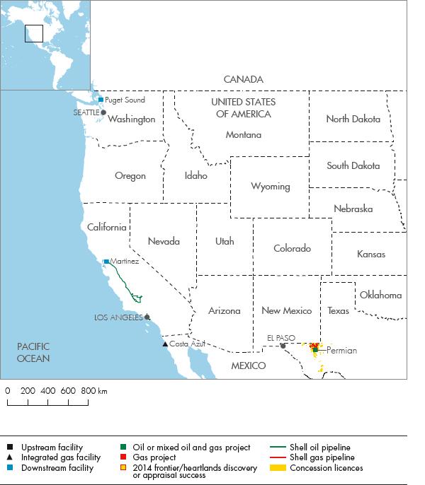 Royal Dutch Shell Plc Investors Handbook United - North west us map