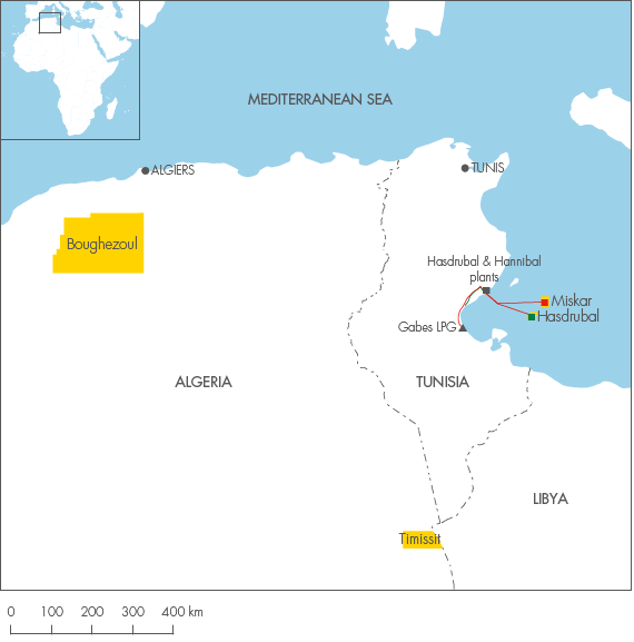 Africa Shell Investors Handbook - Tunisia map africa