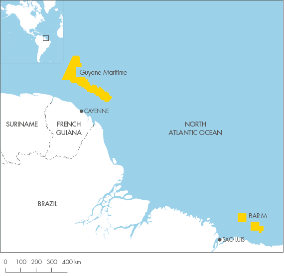 South America Shell Investors Handbook - South america french guiana map