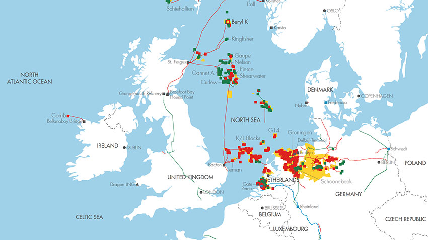 Map Europe 2016.Maps Shell Investors Handbook 2012 2016